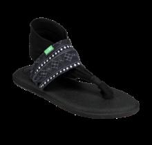 Sanuk Women's Yoga Sling 2 Prints Sandals - Abbot Kinney Black/White