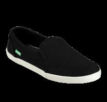 Sanuk Women's Pair O Dice Hemp Slip On Shoes - Black