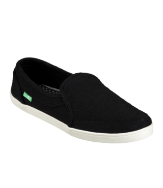 Sanuk Women's Pair O Dice Hemp Slip On Shoes - Black