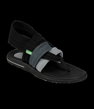 Sanuk Women's Yoga Sling 3 Sandals - Gradient Grey/Black