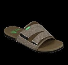 Sanuk Men's Beer Cozy 2 Slide Sandals - Dark Olive