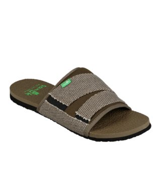 Sanuk Men's Beer Cozy 2 Slide Sandals - Dark Olive