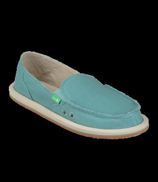 Sanuk Women's Donna Hemp Slip On Shoes - Mineral Blue