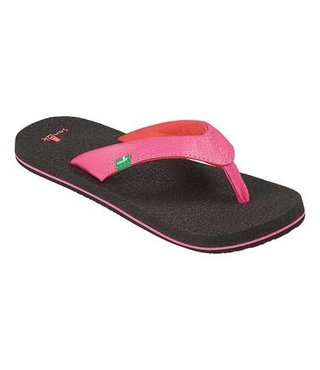 Sanuk Girl's Yoga Mat Sandals - Hot Pink/Red