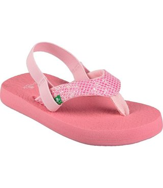 Sanuk Kid's Yoga Glitter Sandals - Paradise Pink