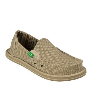 Sanuk Boy's Vagabond Slip On Shoes - Khaki