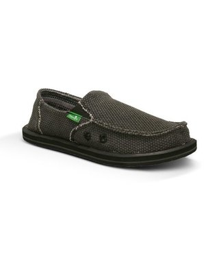 Sanuk Boy's Vagabond Slip On Shoes - Black
