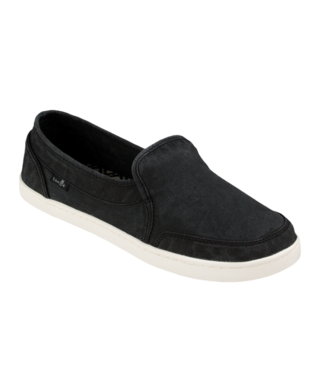 Sanuk Women's Pair O Dice Slip On Shoes - Washed Black