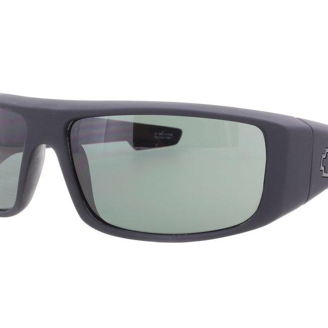 9bca237e48 SPY OPTICS Spy Logan Soft Matte Black Sunglasses w  Gray Green Lenses