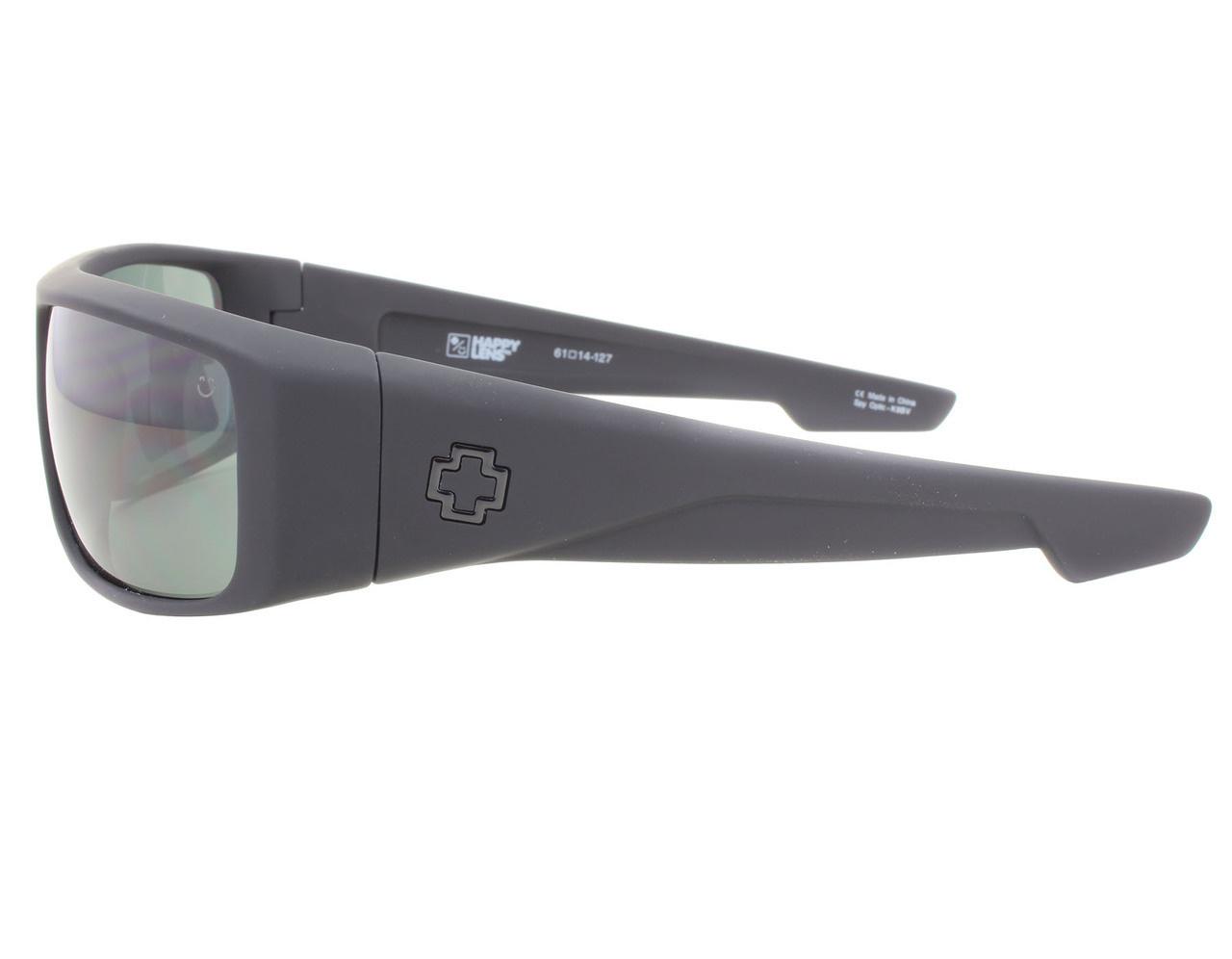 f1857bac6d93a SPY OPTICS Spy Logan Soft Matte Black Sunglasses w  Gray Green Lenses.  Press tab to enlarge