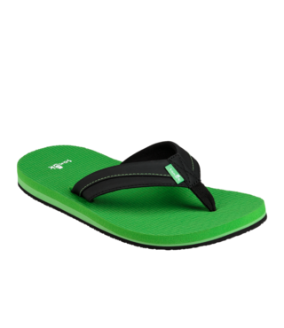 Sanuk Kid's Root Beer Cozy Light Sandals - Black/Green