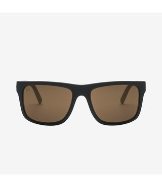 Electric Swingarm XL Matte Black Sunglasses w/ Bronze Polarized Lenses