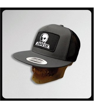 Skull Skates Snapback Mesh Trucker Logo Patch - Charcoal