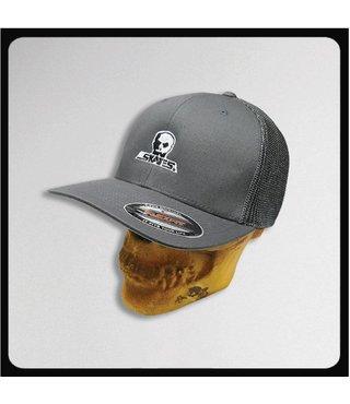 Skull Skates Flex Mesh Hat Small Logo - Charcoal
