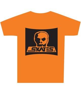 Skull Skates Burbs Logo T-Shirt - Sunset Orange
