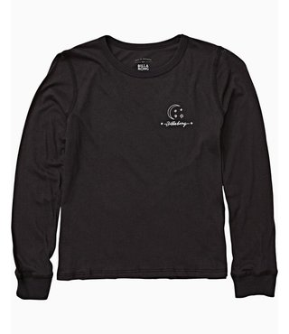 Billabong Girls' Over The Moon Long Sleeve Tee - Off Black