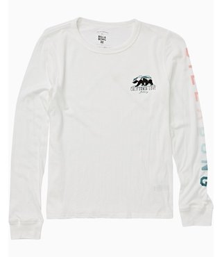 Billabong Girls' Mountain Bear Long Sleeve Tee - Cool Wip