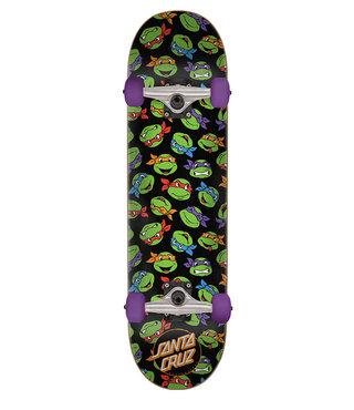 7.25in x 29.9in TMNT Allover Turtle Santa Cruz Skateboard Complete
