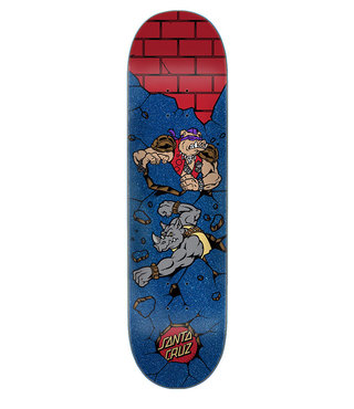 8.125in x 31.7in TMNT Bebop and Rocksteady Santa Cruz Skateboard Deck
