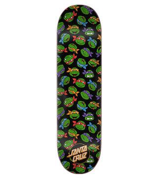 8.25in x 31.8in TMNT Allover Turtle Santa Cruz Skateboard Deck