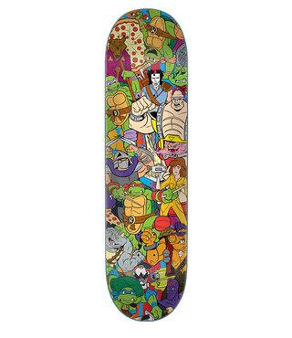 8.0in x 31.6in TMNT Crew Everslick Santa Cruz Skateboard Deck