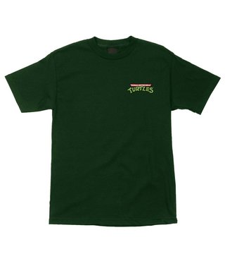 TMNT Pizza Dot Regular S/S Santa Cruz Mens T-Shirt - Forest Green