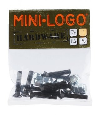 "Mini Logo 7/8"" Phillips Black Hardware"