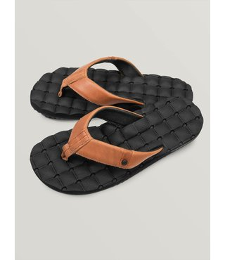 Recliner Leather Sandals - Brown Stone