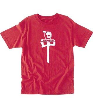 RDS x Skull Skates T-Shirt - Red/White