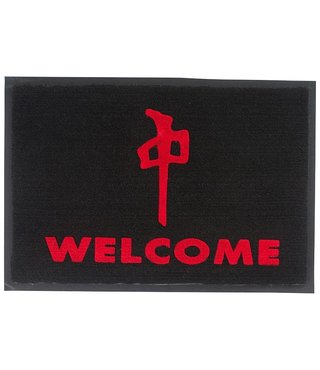 RDS Door Mat Welcome 27x18in - Black/Red