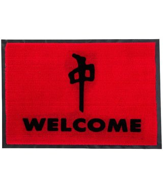 RDS Door Mat Welcome 27x18in - Red/Black