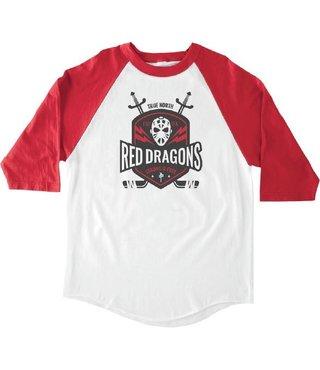 RDS 3/4 Sleeve Banger Top Shelf - White/Red