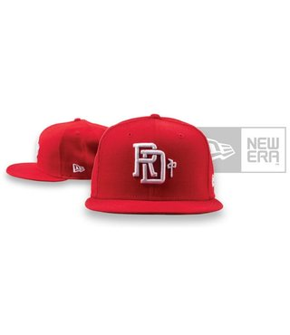 RDS New Era Hat Monogram - Red/White