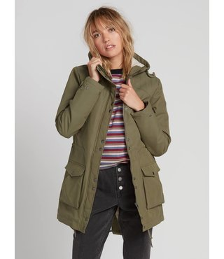 Volcom Walk On 5K Parka - Army Green Combo