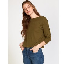 RVCA Lowry Knit Thermal Top - Army Drab