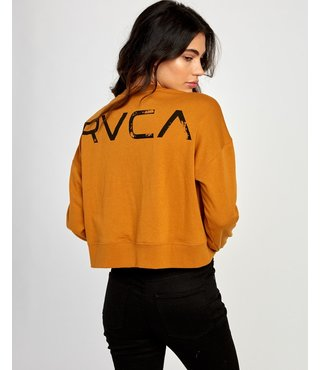 RVCA Big Copy Pullover Sweatshirt - Cathay Spice