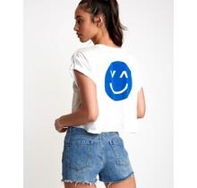 RVCA Happy Sad Cropped T-Shirt - Vintage White