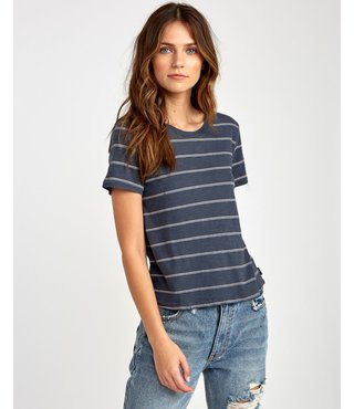 RVCA Sirens Striped Baby T-Shirt - Ink