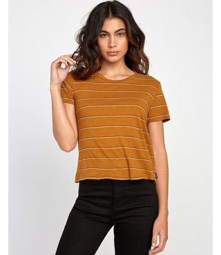 RVCA Sirens Striped Baby T-Shirt - Cathay Spice