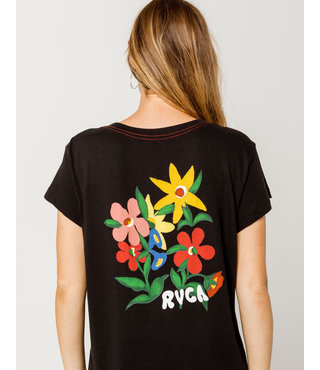 RVCA Bouquet Womens Pocket Tee - Black