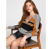 RVCA Carter Striped Sweater - Cathay Spice
