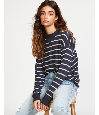 RVCA Tristan Striped Sweater - Ink