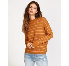 RVCA Tristan Striped Sweater - Cathay Spice