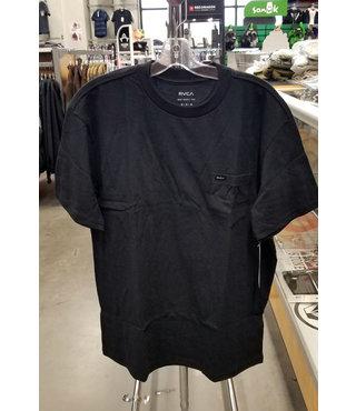 RVCA Dayshift Solid Label T-Shirt - Black