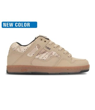 DVS Enduro 125 Skate Shoes - Tan Camo Gum Nubuck