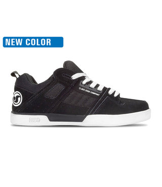 DVS Comanche 2.0+ Skate Shoes - Black White Nubuck