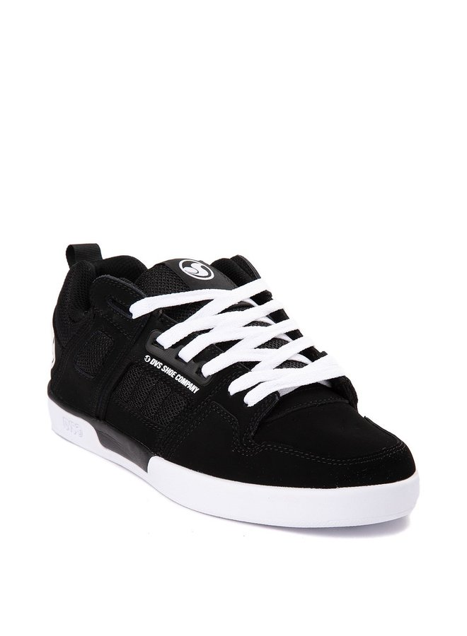 DVS Comanche 2.0+ Skate Shoes - Black White Nubuck