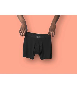 SAXX Ultra Boxer Brief w/ Fly - Black/Black