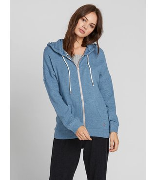 Volcom Lived In Lounge Zip Fleece Hoodie - Sandy Indigo