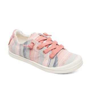 Roxy Girl's 7-14 Bayshore Shoes - Stripe Barely Pink